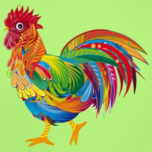 An ornately decorated rooster Baby & Toddler Shirts - Short Sleeve Baby Bodysuit