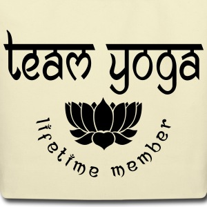 Team Yoga Lifetime Member Bags & backpacks - Eco-Friendly Cotton Tote
