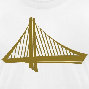 Golden Statement - Men's T-Shirt by American Apparel
