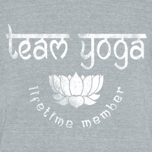 Vintage Yoga Team T-Shirts - Unisex Tri-Blend T-Shirt by American Apparel