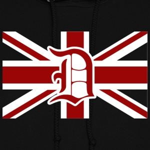 Detroit British Flag Union Jack England Hoodies - Women's Hoodie