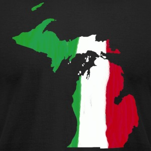 Michigan Italian Italy Flag Pride  T-Shirts - Men's T-Shirt by American Apparel