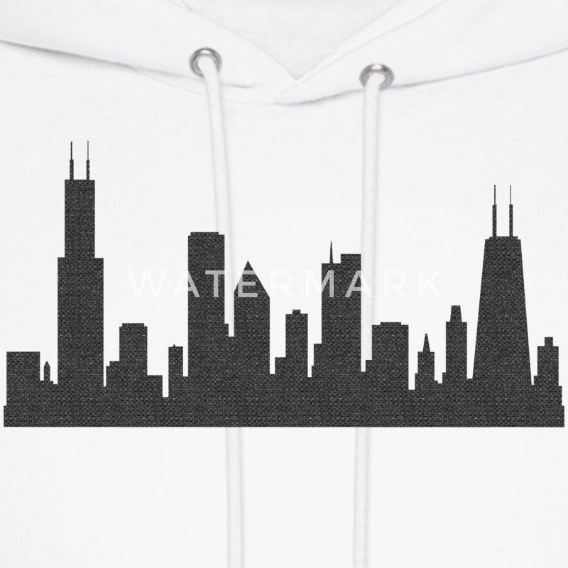 Chi Chicago Skyline Silhouette Hoodie Spreadshirt