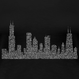 Hog Butcher Chicago Skyline Women's T-Shirts - Women's Premium T-Shirt