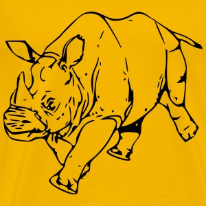 Rhinoceros - Men's Premium T-Shirt