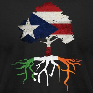Puerto Rican Rico Irish Ireland Rotos T-Shirts - Men's T-Shirt by American Apparel
