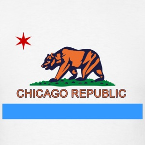 Chicago Republic Bear City Flag T-Shirts - Men's T-Shirt