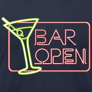 Bar Open T-Shirts - Men's T-Shirt by American Apparel