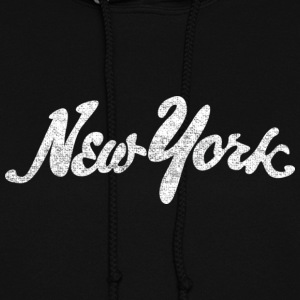 Distressed New York Drawn Hoodies - Women's Hoodie