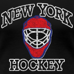 New York Goalie Hockey Mask Women's T-Shirts - Women's Premium T-Shirt
