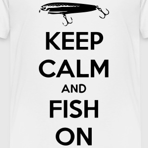 Keep Calm and Fish On - Kids' Premium T-Shirt