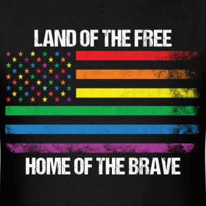 Land Of The Free Home Of The Brave T-Shirts - Men's T-Shirt