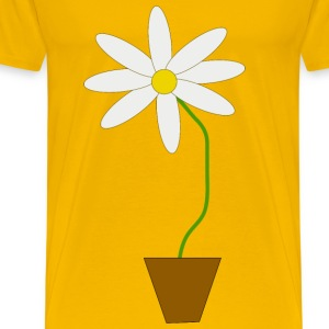 Flower in a pot - Men's Premium T-Shirt