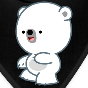 Prankish Cartoon Polar Bear Cub- Cheerful Madness Caps - Bandana