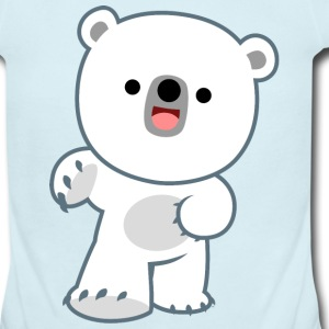Cute Happy Polar Bear Cub by Cheerful Madness!! Baby & Toddler Shirts - Short Sleeve Baby Bodysuit