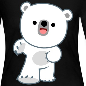 Cute Happy Polar Bear Cub by Cheerful Madness!! Long Sleeve Shirts - Women's Long Sleeve Jersey T-Shirt