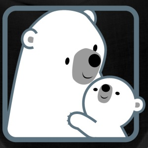 Cartoon Mum Polar Bear And Cub by Cheerful Madness Caps - Bandana
