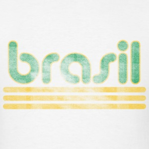 Brasil Font Distressed  T-Shirts - Men's T-Shirt