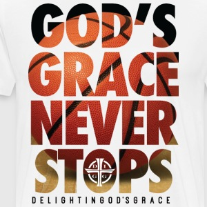 God's Grace White Tee - Men's Premium T-Shirt