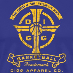 Basketball Cross Royal Tee - Men's Premium T-Shirt
