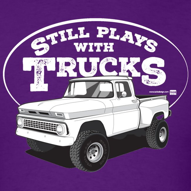 1963 Chevy C10 Short Stepside 4x4 Tee (White graphic)