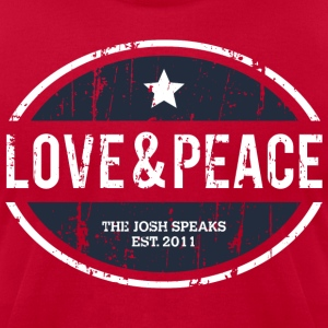 Love & Peace from The Josh Speaks T-Shirt - Men's T-Shirt by American Apparel