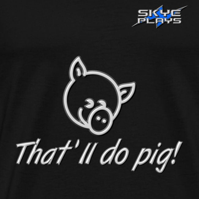 That'll do pig! (Steel) Piggles Logo