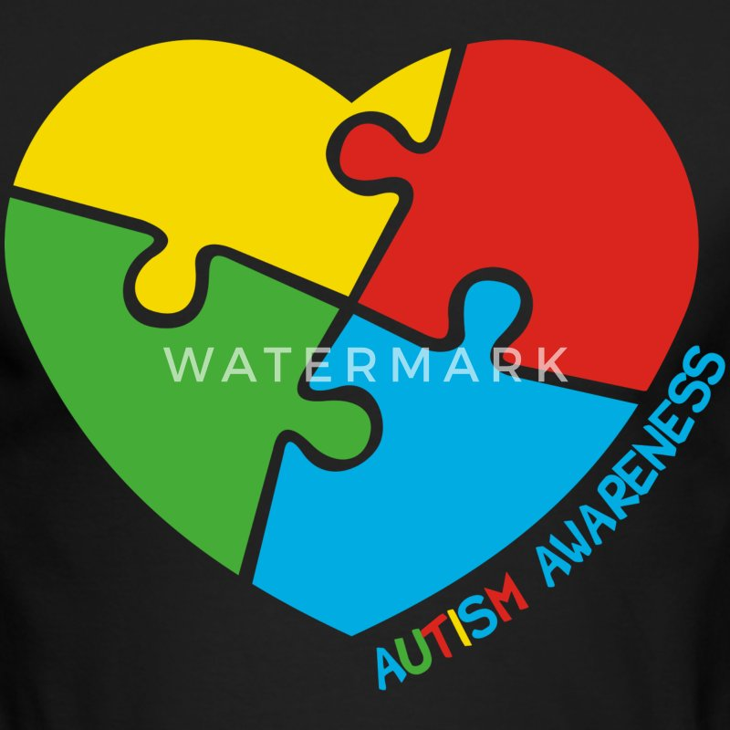 Autism Awareness Heart - Men's Long Sleeve T-Shirt by Next Level