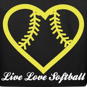 Live Love Softball with Softball heart Design Bags & backpacks - Eco-Friendly Cotton Tote