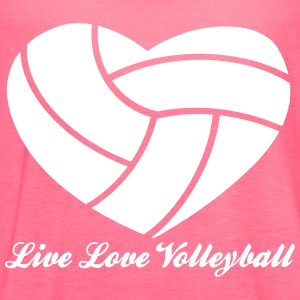 Live Love Volleyball with Volleyball Heart Above Tanks - Women's Flowy Tank Top by Bella