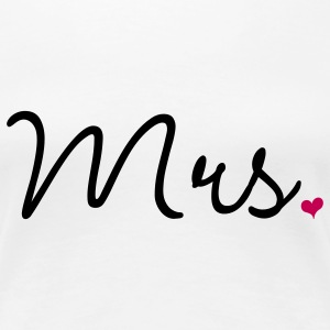 Mrs. Married Wedding Women's T-Shirts - Women's Premium T-Shirt