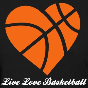 Live Love Basketball Heart Women's T-Shirts - Women's T-Shirt