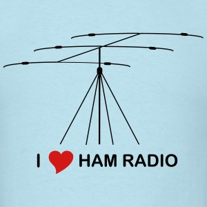 I love hamradio - Men's T-Shirt