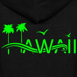 Hawaii Islands - Unisex Fleece Zip Hoodie by American Apparel