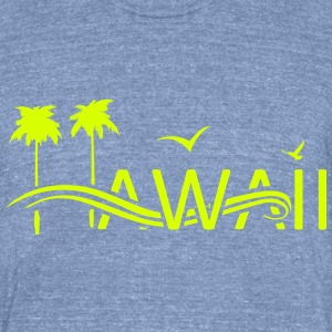 Hawaii Islands - Unisex Tri-Blend T-Shirt by American Apparel