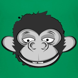 a smiling monkey face Kids' Shirts - Kids' Premium T-Shirt