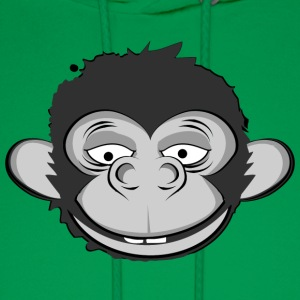 a smiling monkey face Hoodies - Men's Hoodie