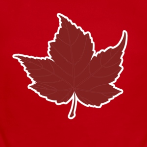 Red maple leaf for Canada Day  - Short Sleeve Baby Bodysuit
