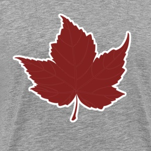 Red maple leaf for Canada Day  - Men's Premium T-Shirt