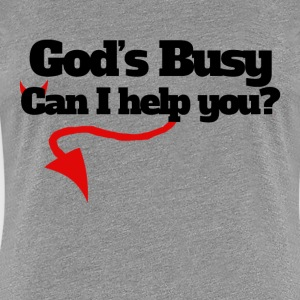 God's busy can I help you halloween humor - Women's Premium T-Shirt