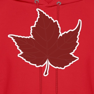 Red maple leaf for Canada Day  - Men's Hoodie