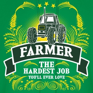 Farmer The Hardest Job You Will Ever Love - Men's Hoodie