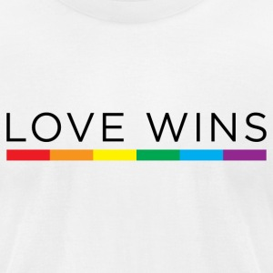 Love Wins T-Shirts - Men's T-Shirt by American Apparel