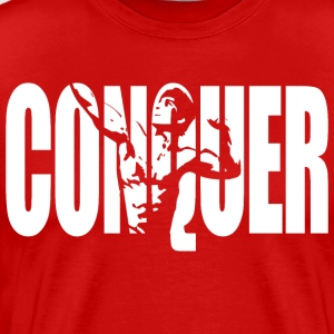 CONQUER - Zyzz Motivation T-Shirts - Men's Premium T-Shirt
