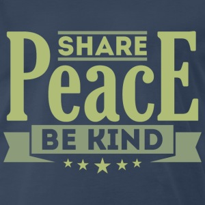Share Peace Men's Shirt - Men's Premium T-Shirt