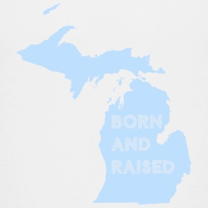 Michigan Born and Raised Mitten Kids' Shirts - Kids' Premium T-Shirt