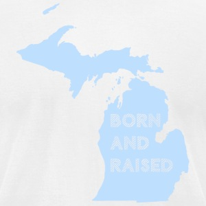 Michigan Born and Raised Mitten T-Shirts - Men's T-Shirt by American Apparel