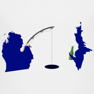 Michigan Upper Peninsula Cute Fishing Kids' Shirts - Kids' Premium T-Shirt