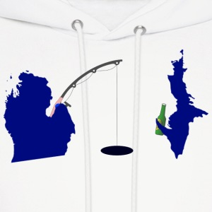 Michigan Upper Peninsula Cute Fishing Hoodies - Men's Hoodie