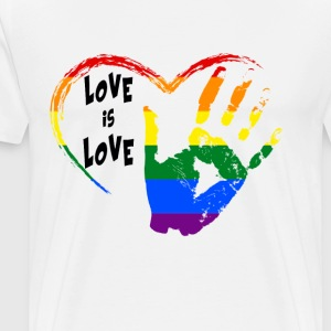 love is love T-Shirts - Men's Premium T-Shirt